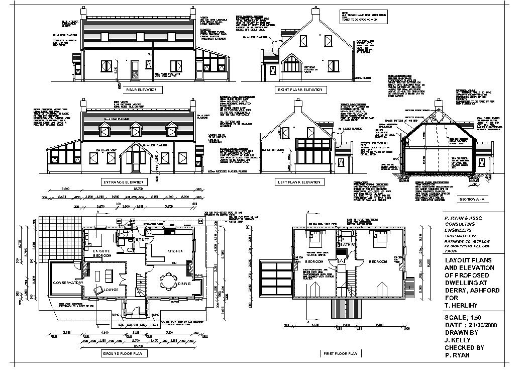 Construction drawings House plan sketch design