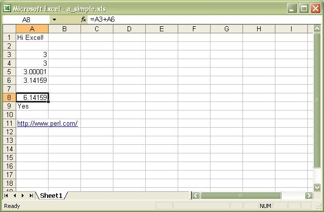 Spreadsheet::WriteExcel