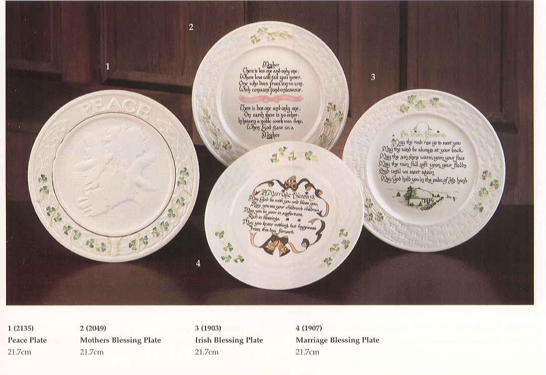 engraved plates from belleek at pat s craft shop